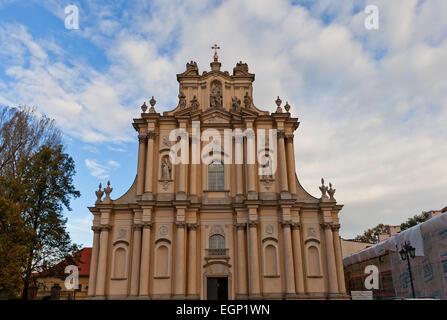 Church of St. Joseph of the Visitationists (circa 1761) in Warsaw, Poland. Architect Karol Antoni Bay - Stock Photo
