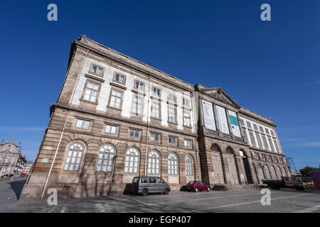 Porto, Portugal. December 29, 2014: Natural History Museum of Porto University building in Gomes Teixeira Square. - Stock Photo