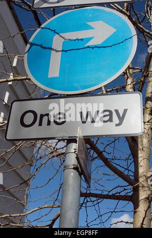 One Way And Arrow Street Signs Stock Photo 12908938 Alamy