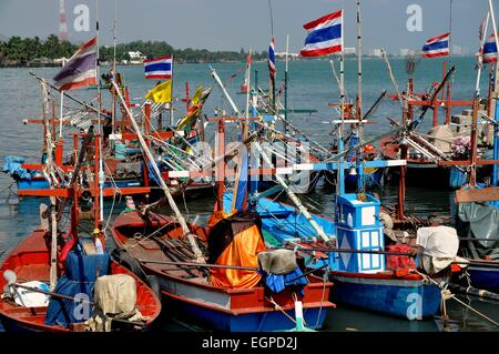 Thai fishing boats hua hin thailand crab lobster stock for Flying fish fleet