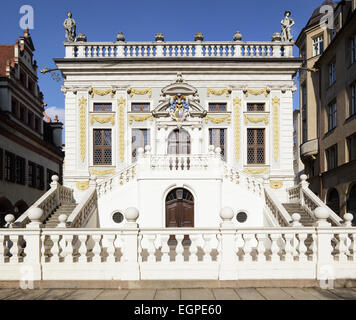 Old Stock Exchange, Leipzig, Saxony, Germany - Stock Photo