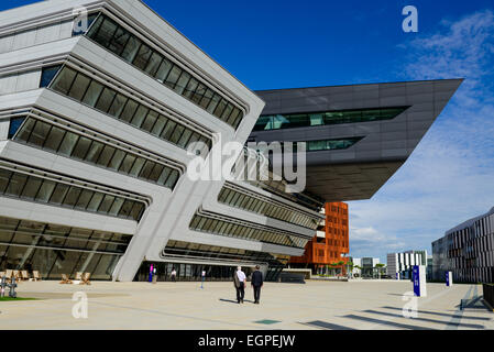New campus of Vienna University of Economics and Business (WU Wien) was opened in 2009 in Prater area, Vienna, Austria - Stock Photo