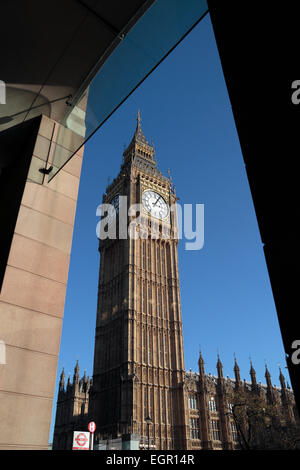The Elizabeth Tower, formerly St Stephens Tower & otherwise known as Big Ben, Westminster, London, UK. - Stock Photo