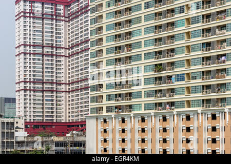 High-rise apartment buildings in Bangkok, Thailand in daylight