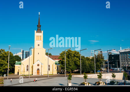 St. John's Church Is In Freedom Square In Tallinn, Estonia. Estonian Capital Is Famous For Its World Heritage Old - Stock Photo