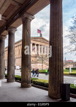 Alte Nationalgalerie (Old National Gallery) exterior on Museum Island, A UNESCO World Heritage site. Mitte, Berlin - Stock Photo