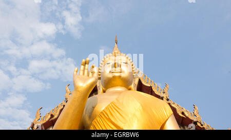 Giant Buddha in Thailand, is a sacred right to be respected - Stock Photo