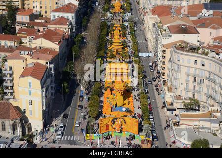Lemon festival of menton in 2015 aerial view for Jardin bioves 2015