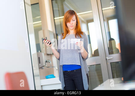 Businesswoman giving a talk. - Stock Photo