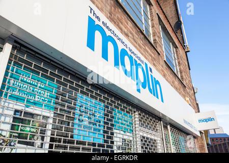 Electronics specialist shop. Maplin store, Nottingham, England, UK - Stock Photo