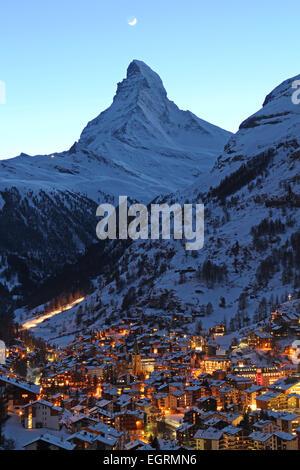 Matterhorn, Zermatt, Switzerland - Stock Photo