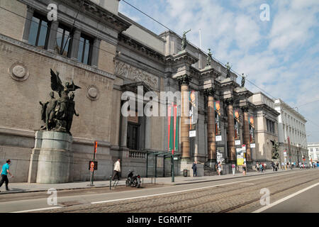 The Royal Museums of Fine Arts of Belgium in Brussels, Belgium. - Stock Photo