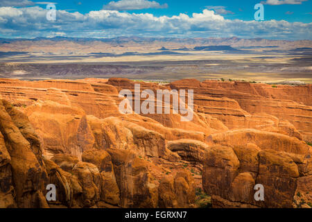 Arches National Park is a US National Park in eastern Utah. - Stock Photo