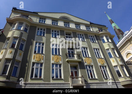 The former KGB building at 59 Pikk Street in Tallinn Estonia now an apartment building. - Stock Photo