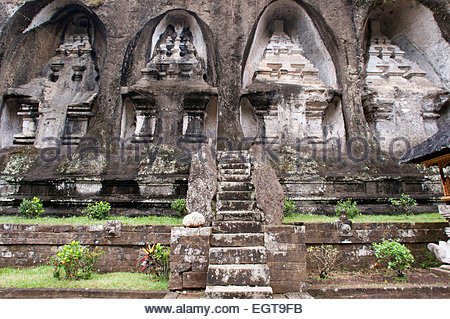 Indonesia, Bali, near Ubud, Tampaksiring, Gunung Kawi Temple. Tirtha Empul Temple is a Hindu Temple located in a - Stock Photo