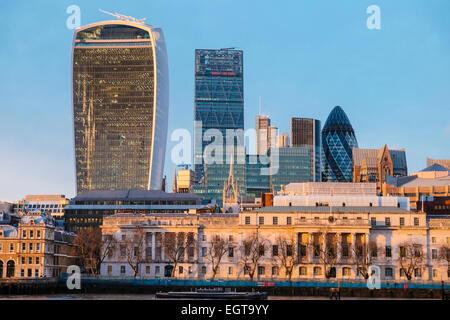 London, 20 Fenchurch Street building, aka as 'the walkie-talkie' - Stock Photo