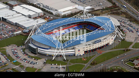 aerial view of the Bolton FC Macron Stadium - Stock Photo