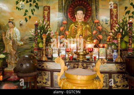 Quoc Tu statue in the Pagoda, Ho Chi Minh City, Saigon, Vietnam, Southeast Asia - Stock Photo