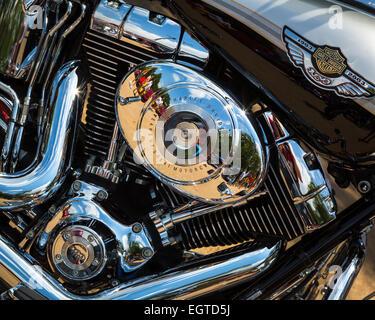 Harley Davidson Engine - Stock Photo