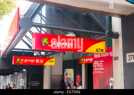 branch of St george bank in Chatswood Sydney Australia - Stock Photo