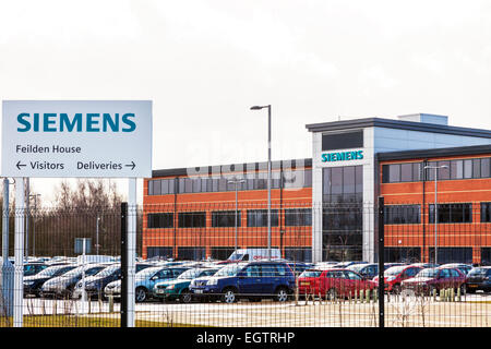 Lincoln Siemens state-of-the-art gas turbine overhaul facility Lincolnshire engineering plant UK England - Stock Photo