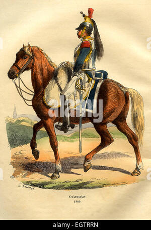 French Cuirassier cavalry officer - Stock Photo