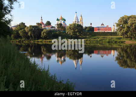 The Kremlin of Kolomna, Russia on an early summer morning - Stock Photo