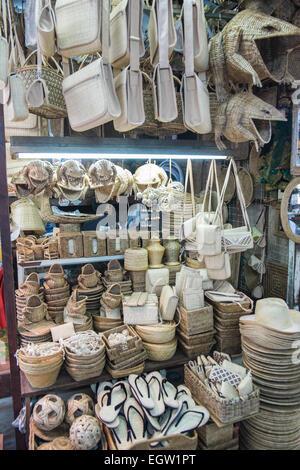 Handicrafts,art, craft goods for sale at Bogyoke Aung San Market  on Yangon,Rangoon, Burma,Myanmar, - Stock Photo