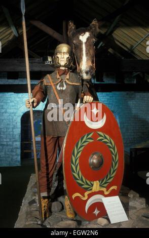 Roman cavalry officer Roman Army Museum Carvoran Fort Hadrians Wall England UK - Stock Photo