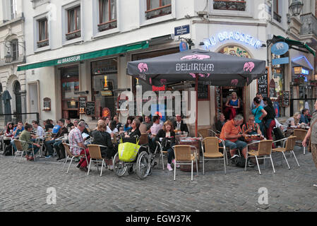 The Au Brasseur cafe/restaurant  in Brussels, Belgium. - Stock Photo