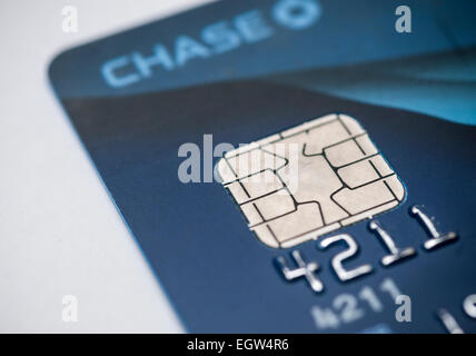 Visa credit card with a smart chip on a white background stock photo smart ship in credit card an emv equipped jpmorgan chase visa card recently received by a consumer on monday reheart Choice Image