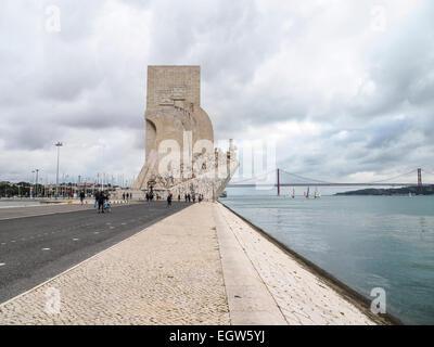 The Padrão dos Descobrimentos in Belém, Lisbon, Portugal - Stock Photo