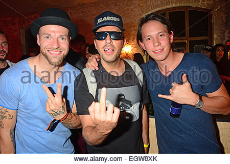 dj chino from culcha candela and felix brandts at justin timberlake stock photo royalty free. Black Bedroom Furniture Sets. Home Design Ideas