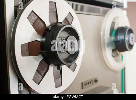reel with magnetic tape - Stock Photo