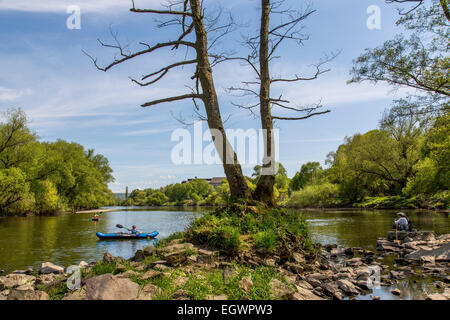 Nature preserve, river Ruhr, near Witten, Germany - Stock Photo