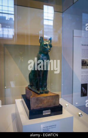 The Gayer-Anderson Cat, an Ancient Egyptian bronze statue in the British Museum, London, England, UK - Stock Photo