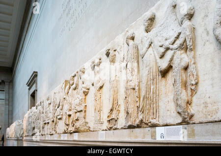 The Elgin Marbles in the British Museum, London, England, UK - Stock Photo