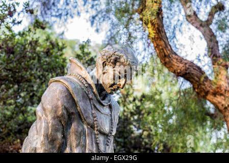 The Padre statue (by Arthur Putnam) at Presidio Park. San Diego, California, United States. - Stock Photo
