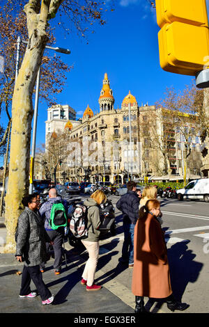 Rocamora houses. Passeig de Gracia, Barcelona, Catalonia, Spain. - Stock Photo