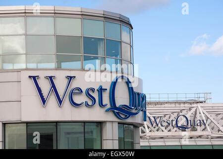 West Quay Shopping Centre, Southampton, Hampshire, UK - Stock Photo