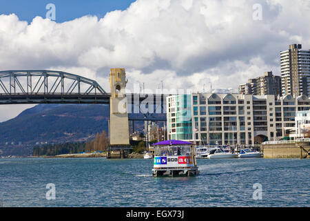 A sea bus carrying commuters in Vancouver, British Colombia, Canada. - Stock Photo