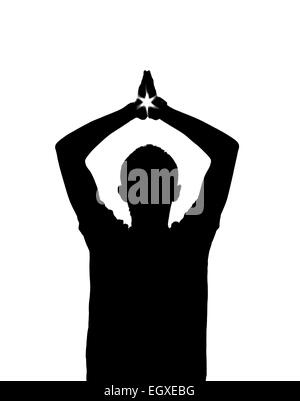 Star in hands. Element Of design. - Stock Photo