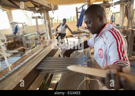 Weaving workshop - Dar es Salaam, Tanzania, East Africa - Stock Photo