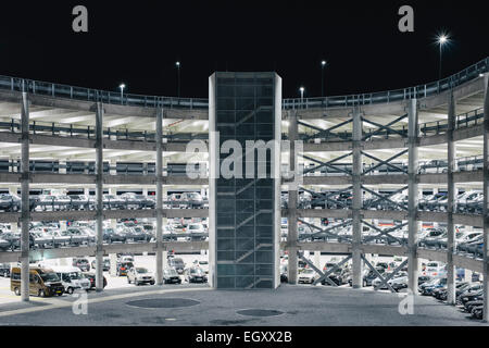 Cars parked in parking garage of world trade center for Garage europe auto center fresnes