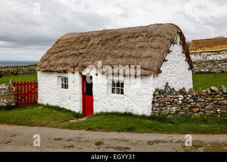 Manx Cottage at Cregneash, Isle of Man - Stock Photo