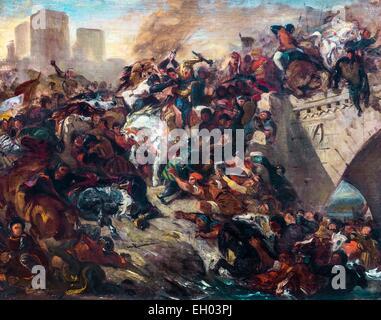ActiveMuseum 0003335.jpg / Battle of Taillebourg won by Saint Louis - oil on canvas 25/09/2013  -   / 19th century Collection / Active Museum