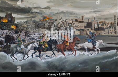 ActiveMuseum 0003939.jpg / Four horsemen of the Apocalypse - oil on canvas 01/05/2014  -  Waiting / 21th century - Stock Photo