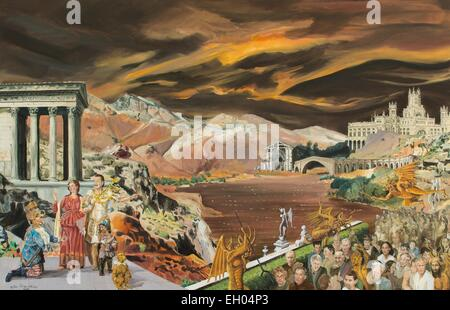 ActiveMuseum_0003941.jpg / The golden palm (the descent into hell) - oil on canvas 01/05/2014  -  Waiting / 21th - Stock Photo