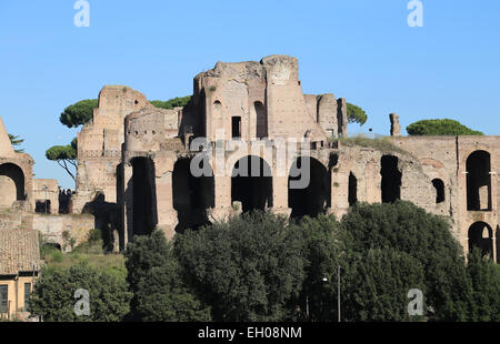 Italy. Rome. Palatine Hill. Ruins. - Stock Photo