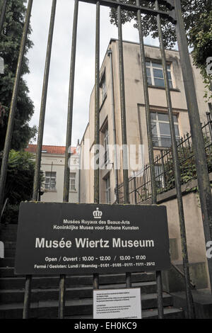 Entrance to the Musee Wiertz Museum ( Royal Museums of Fine Arts of Belgium) in Brussels, Belgium. - Stock Photo